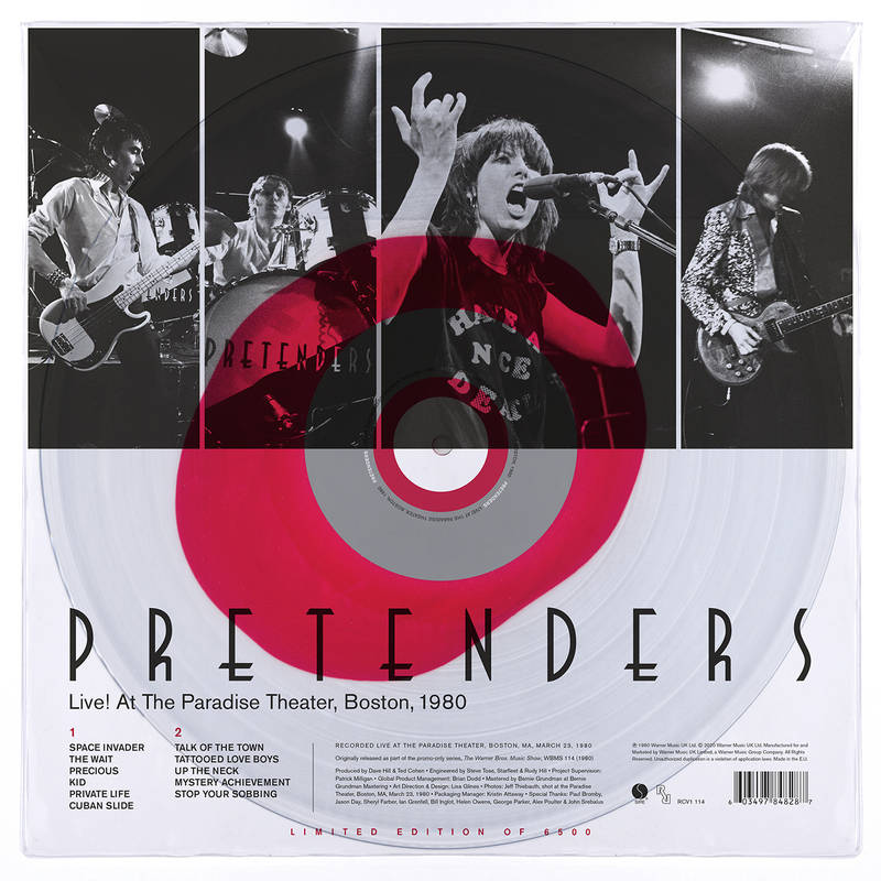 The Pretenders - Vinyl LIVE! AT THE PARADISE THEATER, BOSTON 1980