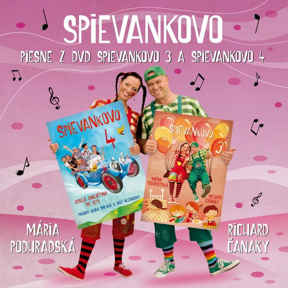 Mária Podhradská a Richard Čanaky - CD PIESNE Z DVD SPIEVANKOVO 3 A 4
