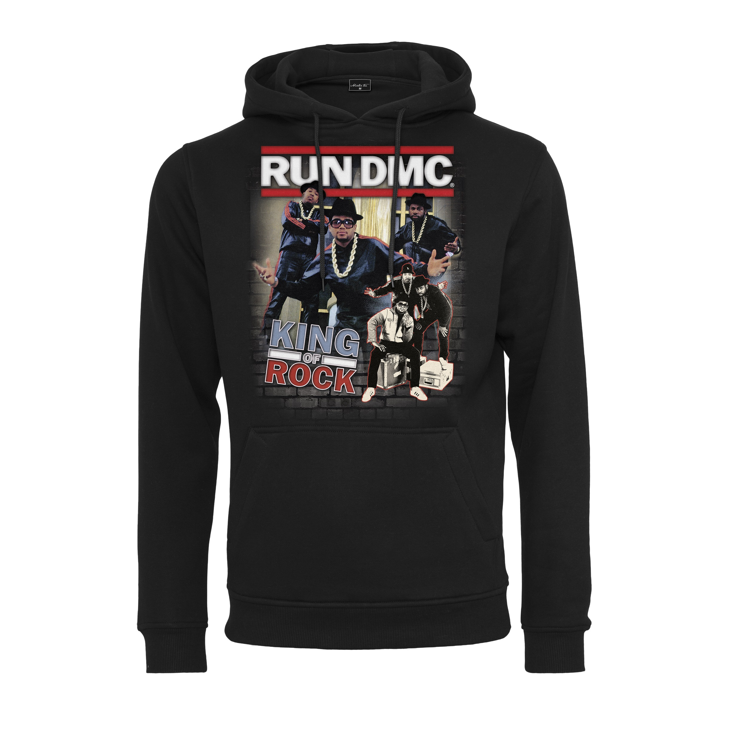 Run-DMC - Mikina King of Rock Hoody - Muž, Čierna, S