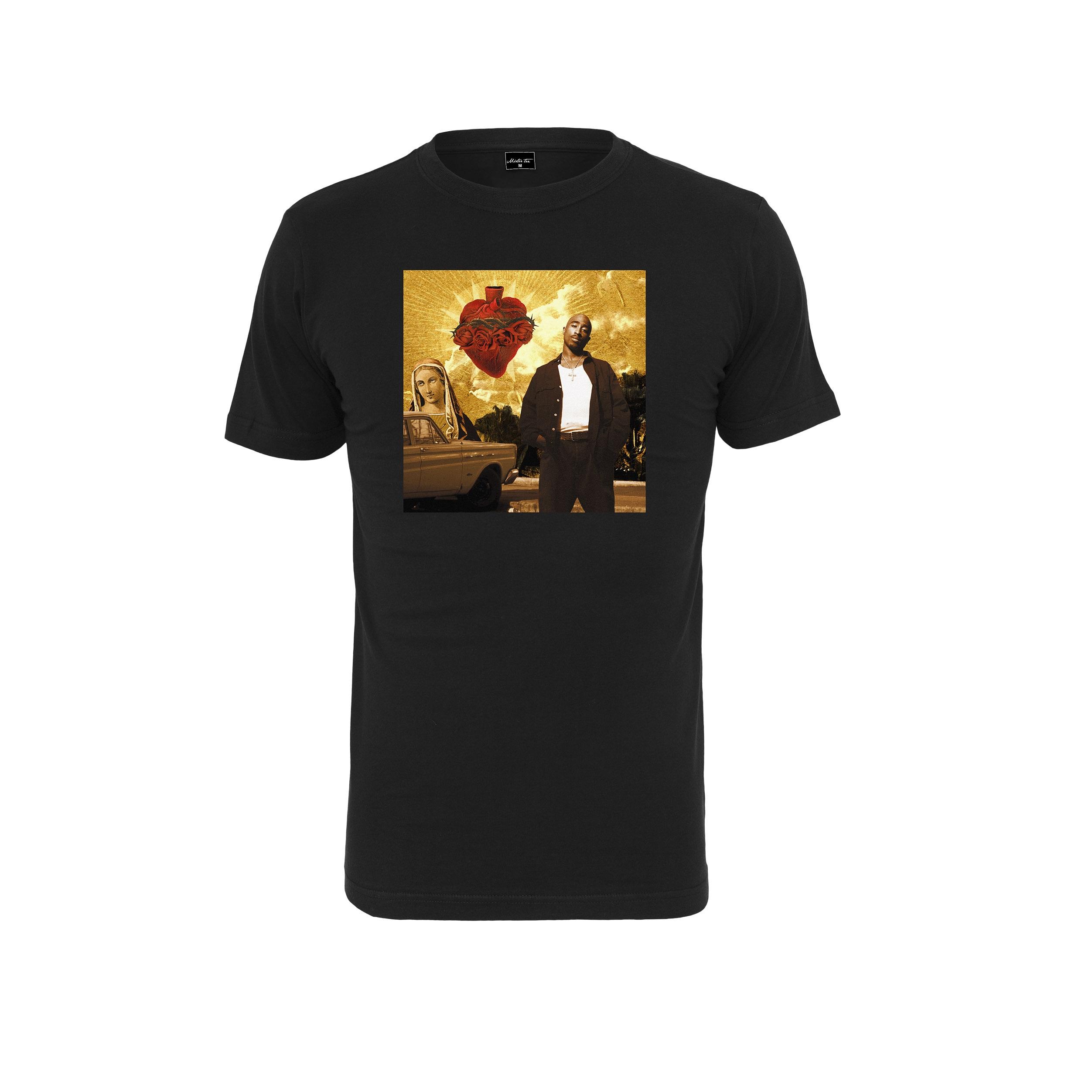 2Pac - Tričko Sacred Heart Tee - Muž, Čierna, L