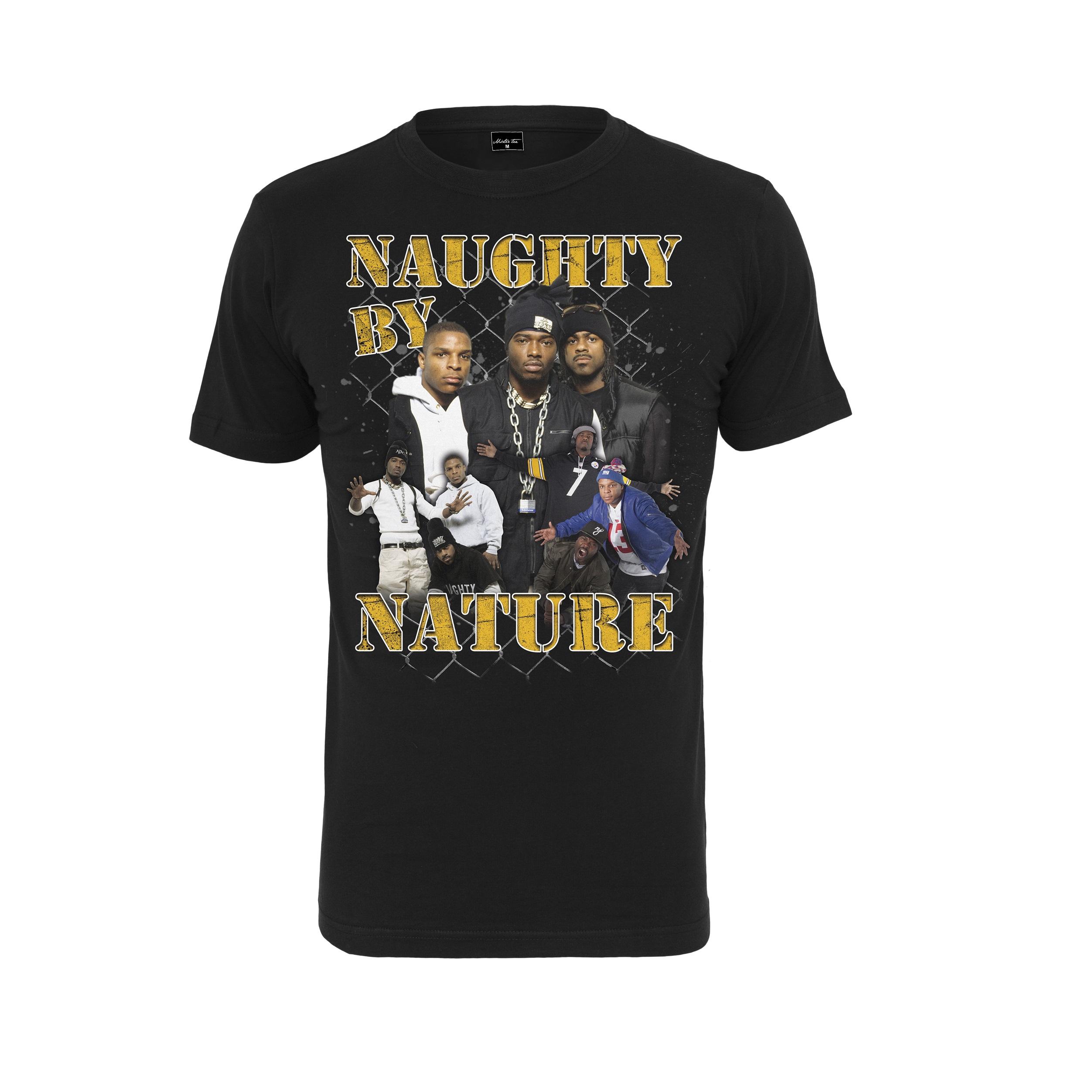Naughty By Nature - Tričko 90s Tee - Muž, Čierna, M