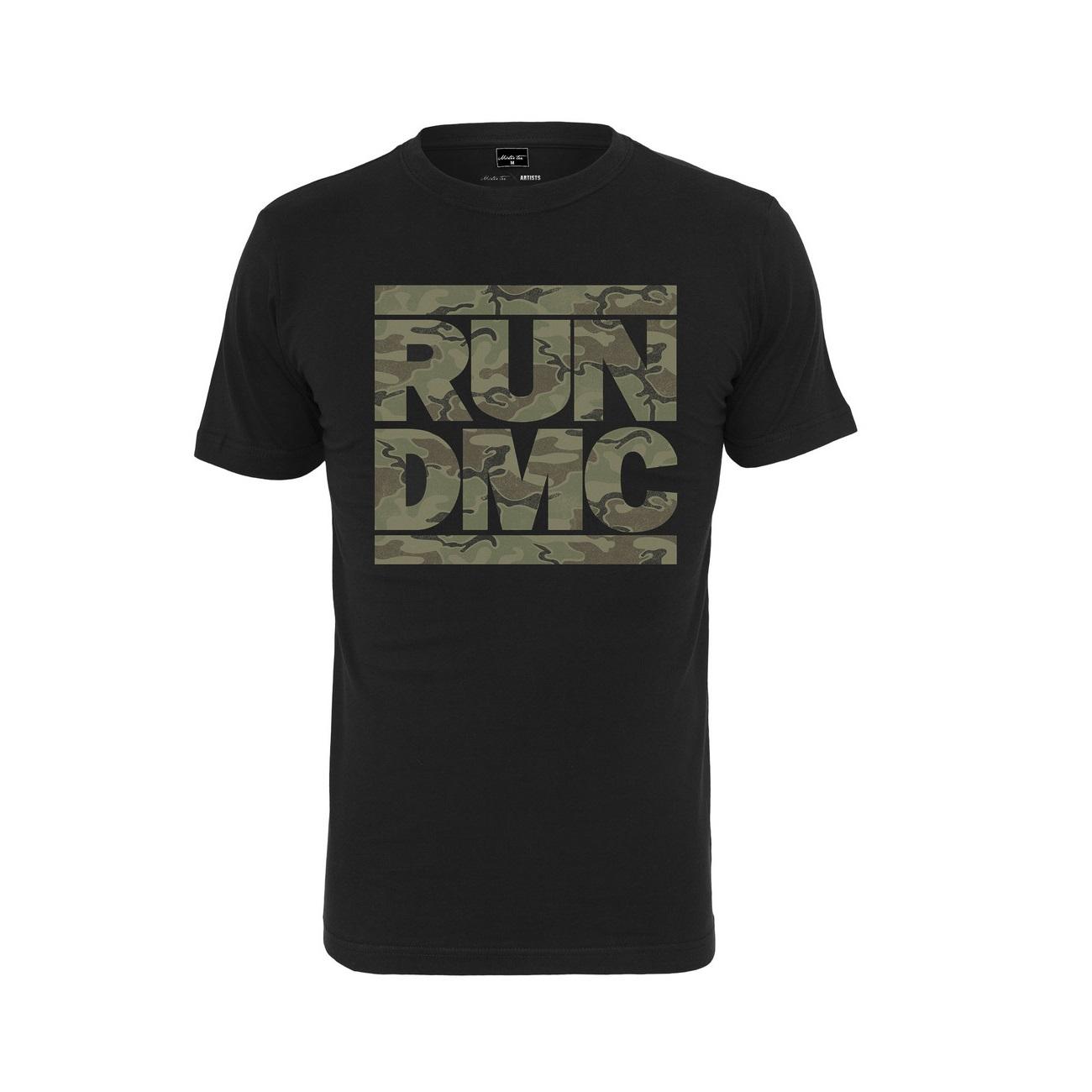 Run-DMC - Tričko Camo Tee - Muž, Čierna, XXL