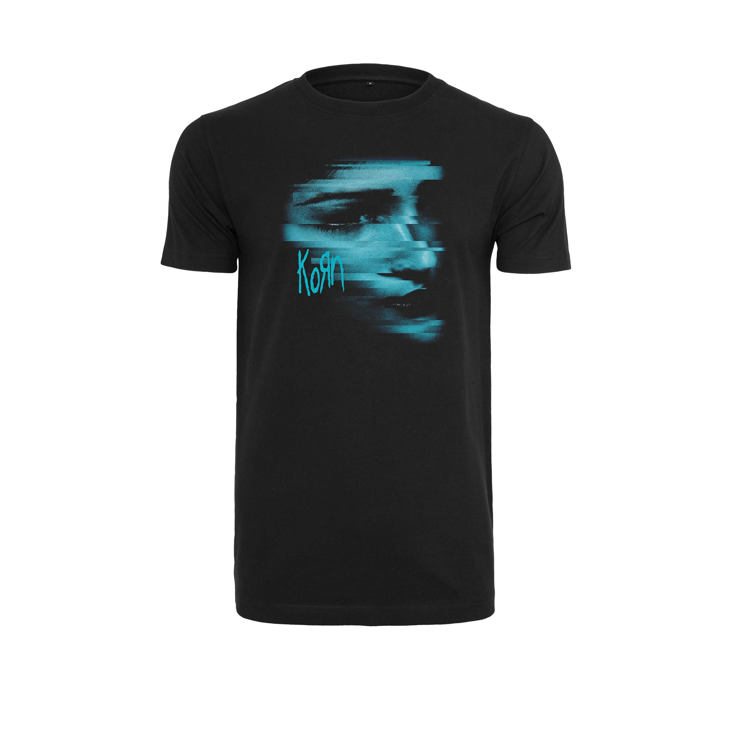 Korn - Tričko Face Tee - Muž, Čierna, XXL