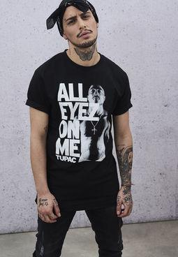 2Pac - Tričko A.E.O.M. - Muž, Čierna, XL