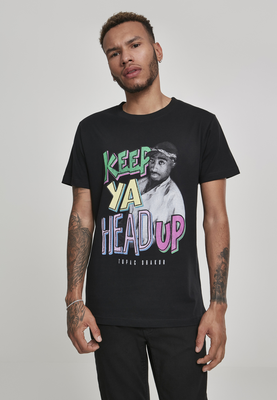 2Pac - Tričko Keep Ya Head Up Tee - Muž, Čierna, XXL
