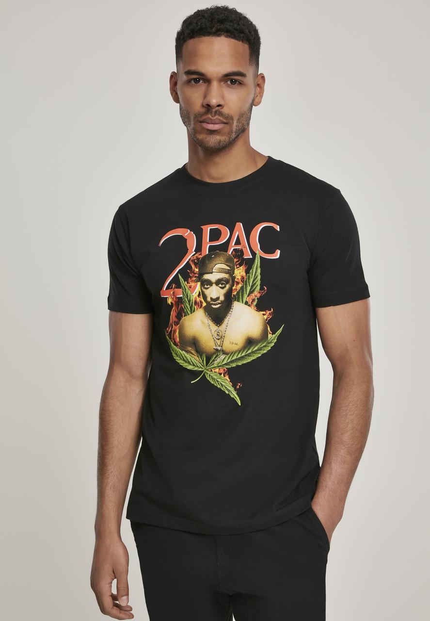 2Pac - Tričko Tupac Fireleaf Tee - Muž, Čierna, XXL