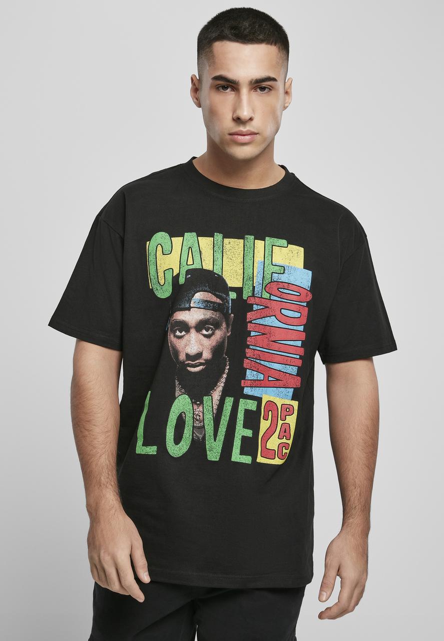2Pac - Tričko Tupac California Love Retro Oversize Tee - Muž, Čierna, L