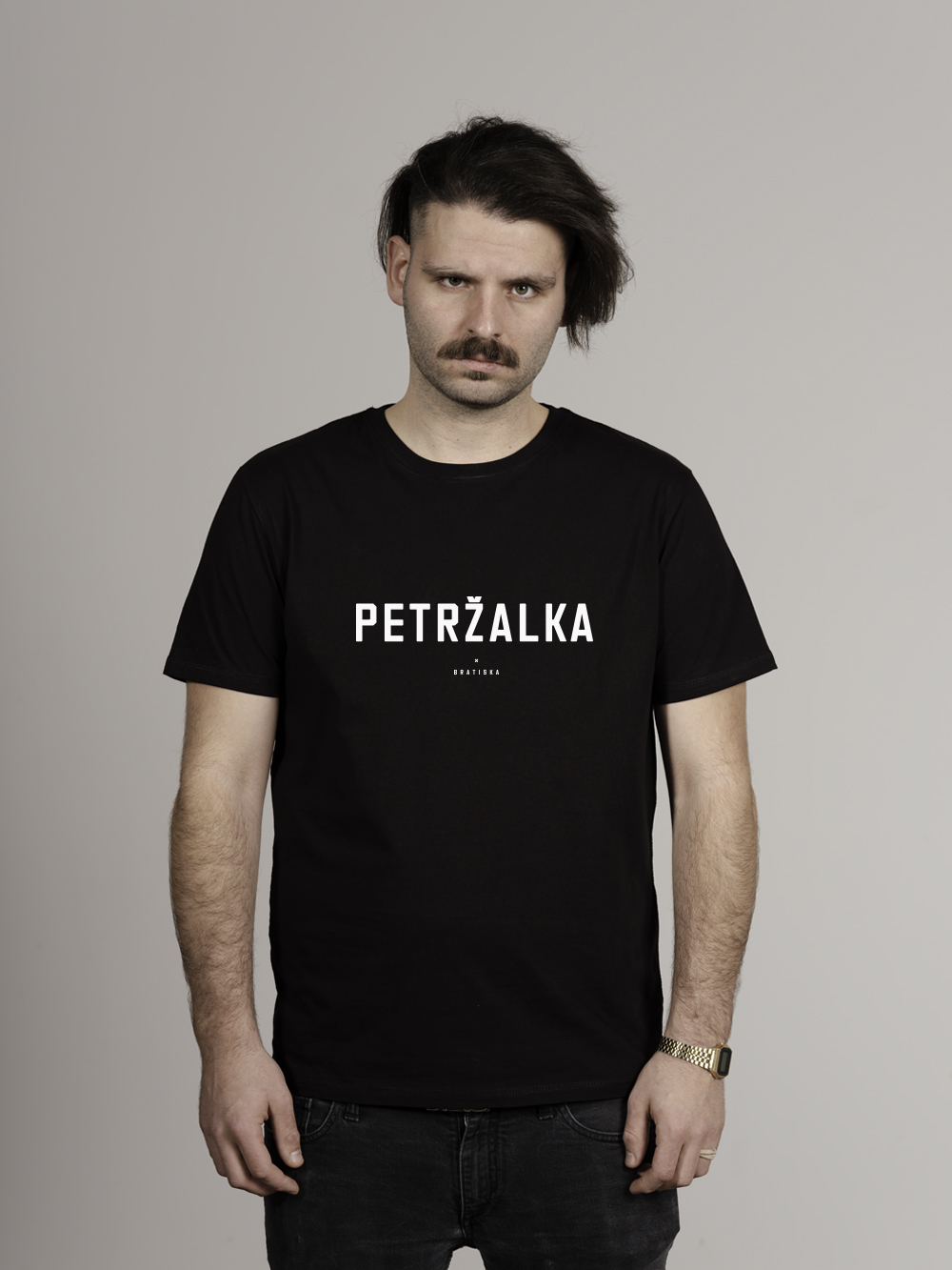 Petržalka Tričko muž, čierna