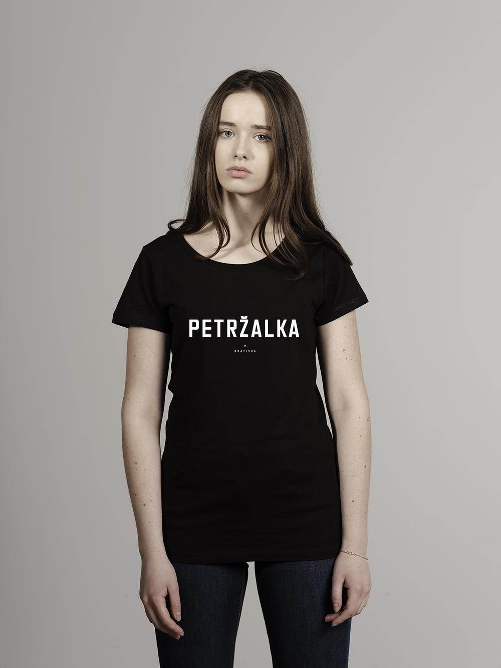 Petržalka Tričko žena, čierna