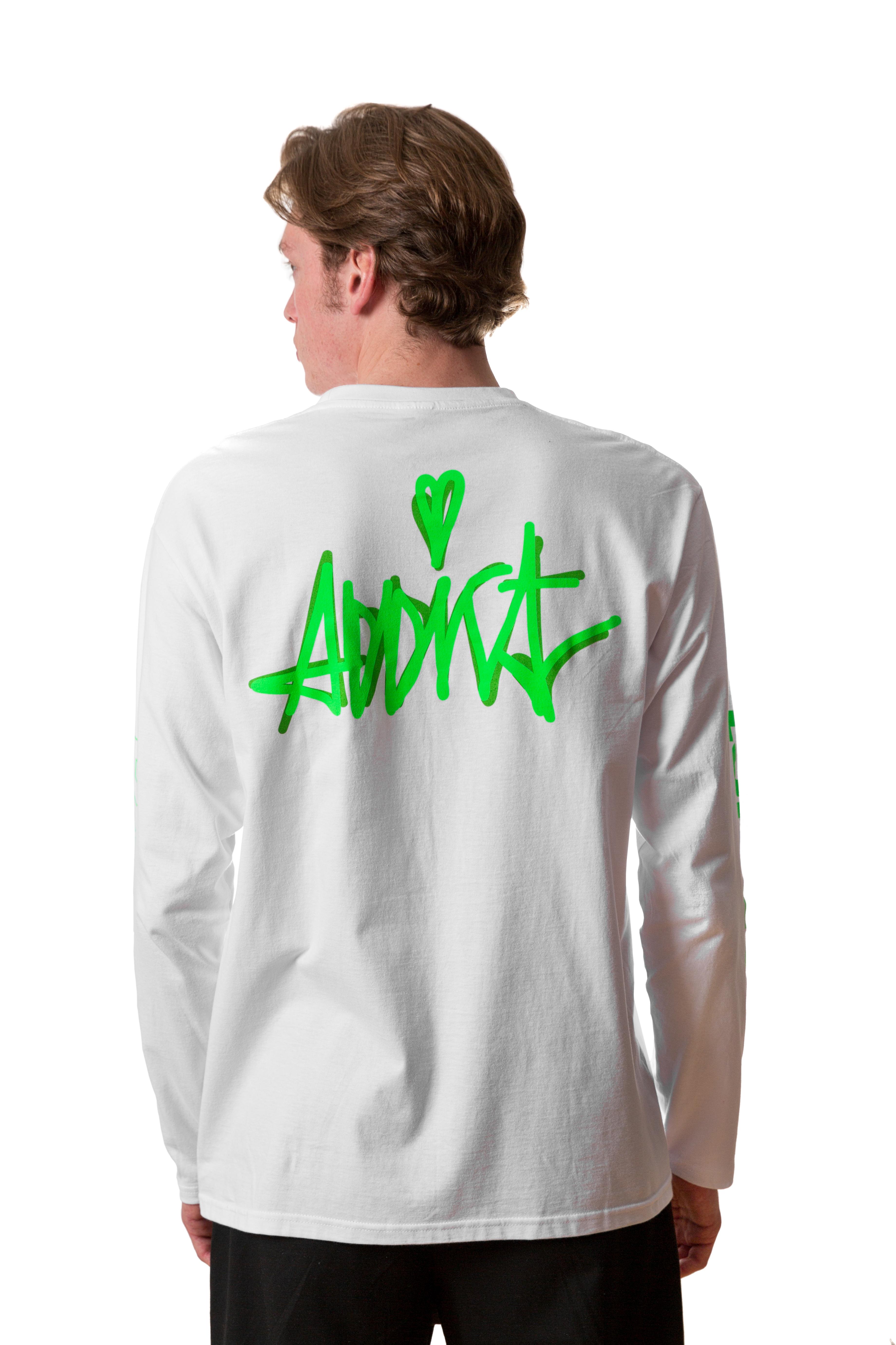 Addict - Tričko s dlhým rukávom Rave LS Tee White - Muž, Biela, M