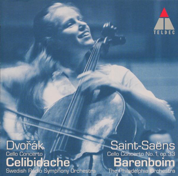 Antonín Dvořák - CD Du Pré, Saint-Saëns, Daniel Barenboim, Sergiu Celibidache, Swedish Radio Symphony Orchestra, The Philadelphia Orchestra - Dvořák Cello Concerto / Saint-Saëns Cello Concerto No. 1 Op. 33