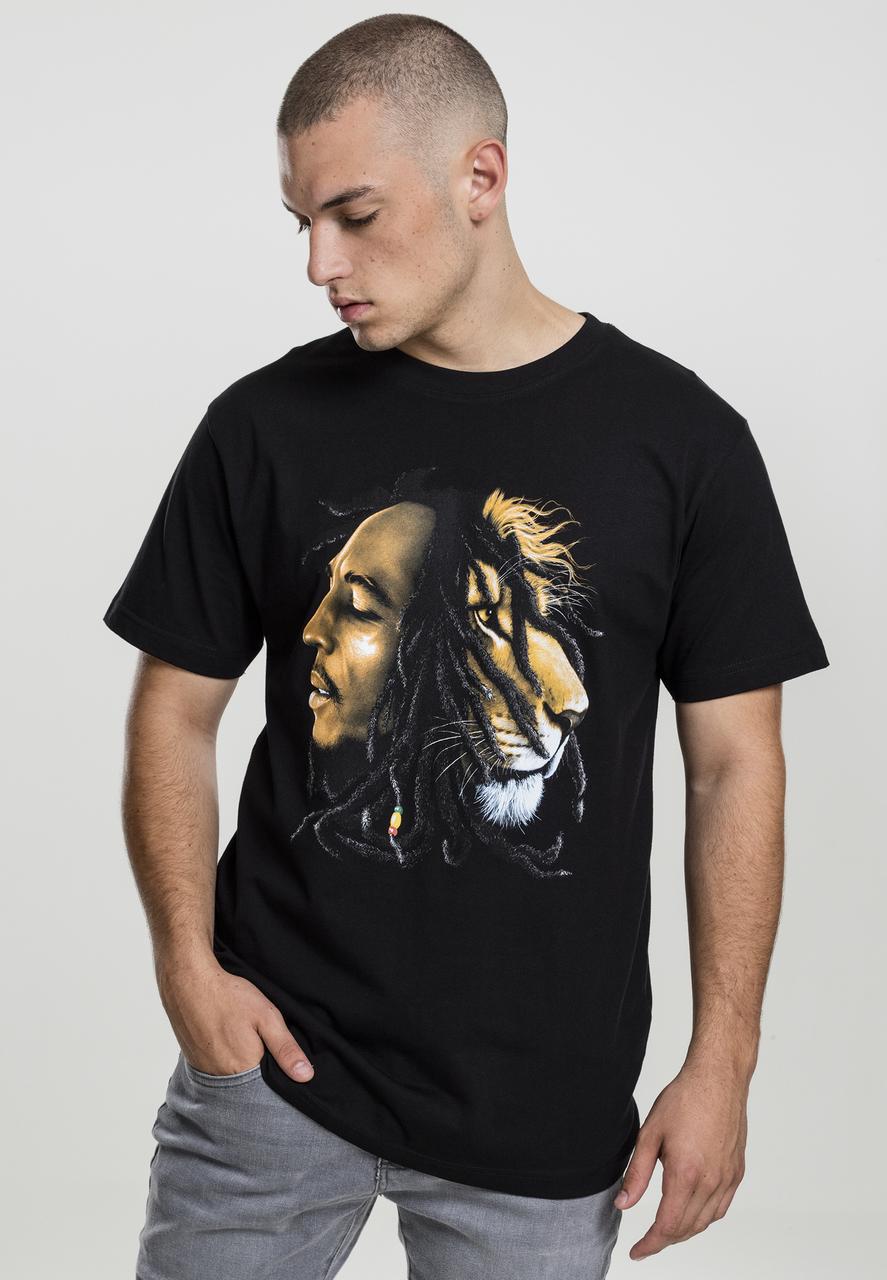 Bob Marley - Tričko Lion face tee - Muž, Čierna, XXL