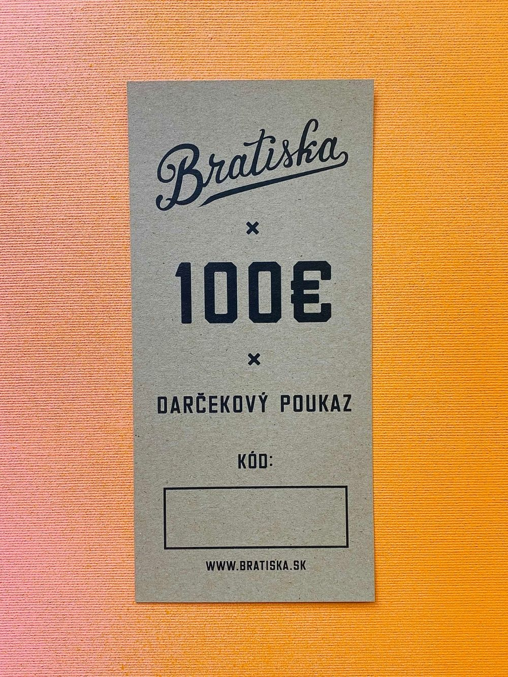 Darčekový poukaz - 100€