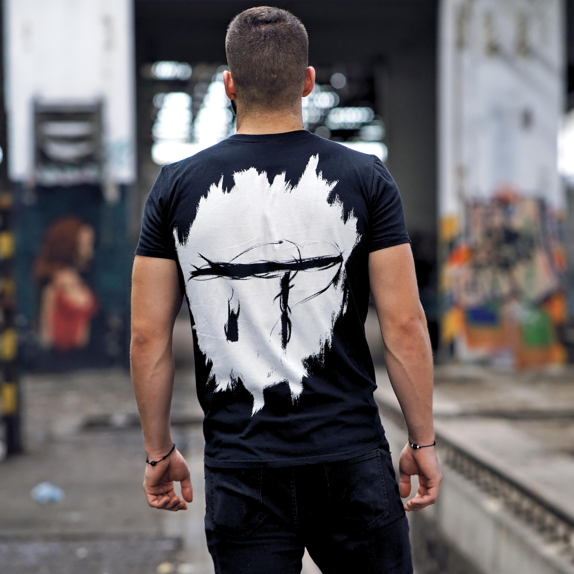 Idem na Techno - Tričko Idem na Techno Logo - Muž, Čierna, XXL