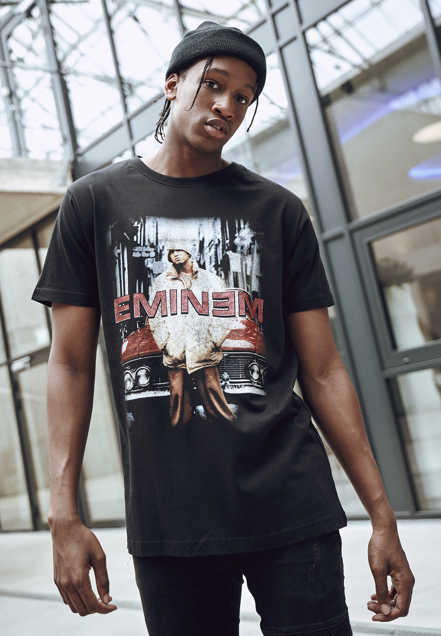 Eminem - Tričko Retro Car Tee - Muž, Čierna, S
