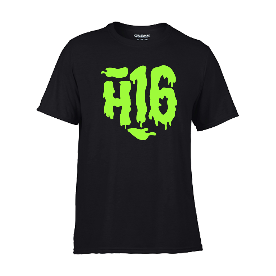 H16 - Tričko Slime - Muž, Čierna, L