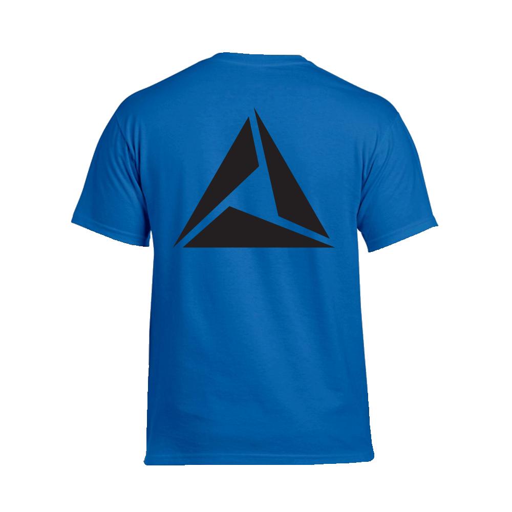 ILLUMINATE - Tričko Logo Black print - Muž, Royal, XXL
