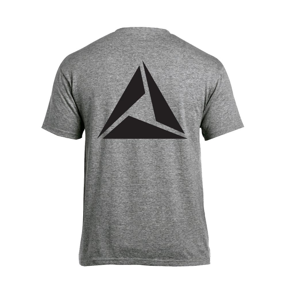ILLUMINATE - Tričko Logo Black print - Muž, Šedá, XXL