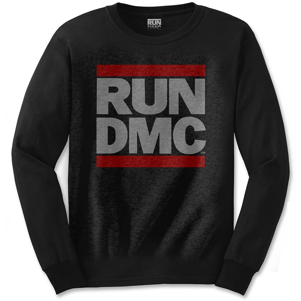 Run-DMC - Tričko s dlhým rukávom Logo - Muž, Unisex, Čierna, XL