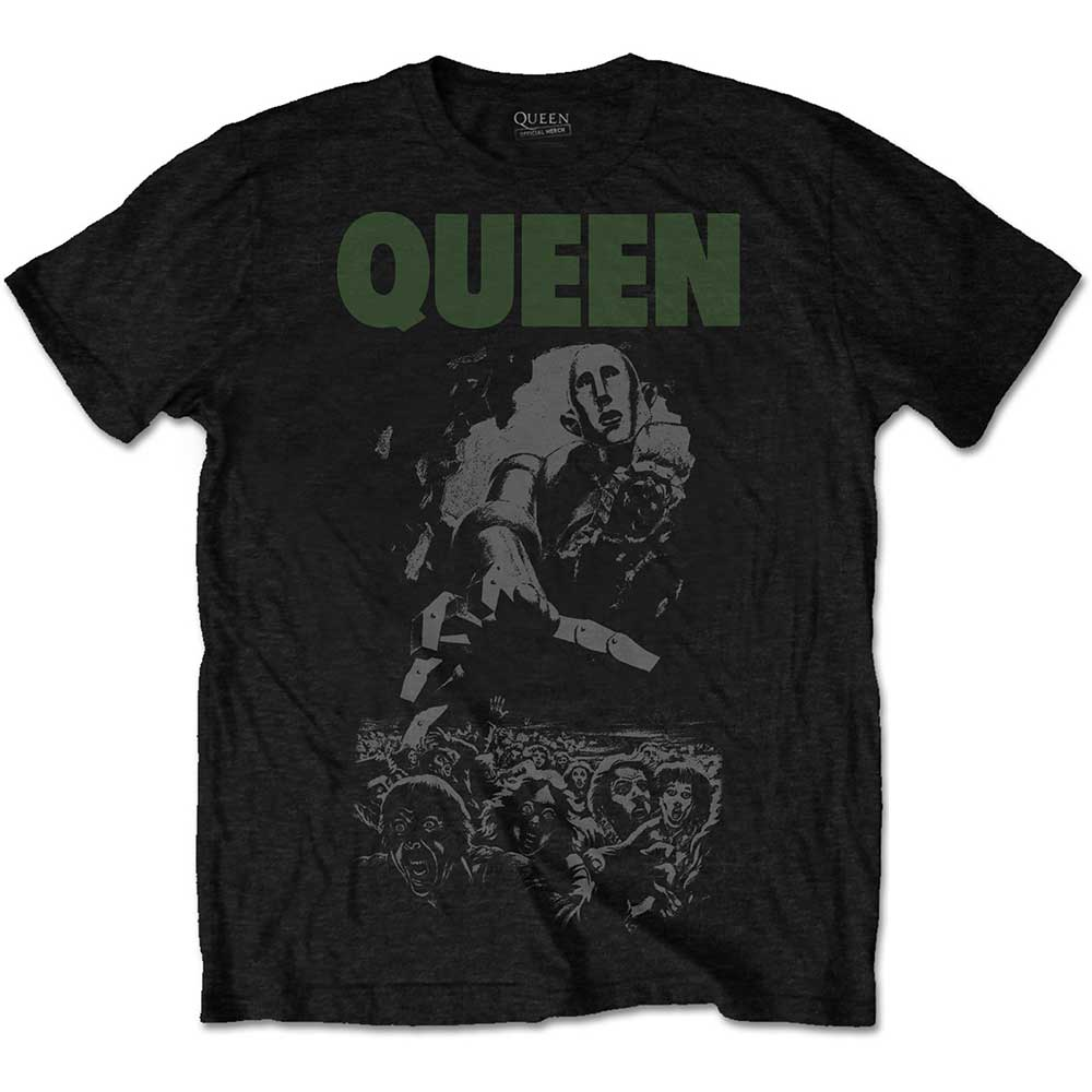 Queen - Tričko News of the World 40th Full Cover - Muž, Unisex, Čierna, XXL