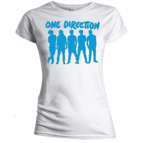 One Direction - Tričko Silhouette Blue on White - Žena, Biela, XL