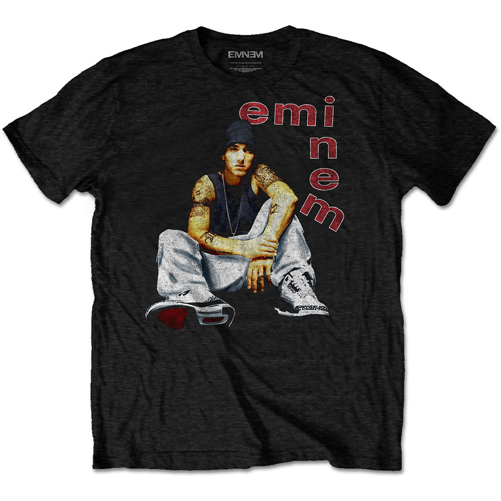 Eminem - Tričko Letters - Muž, Unisex, Čierna, S