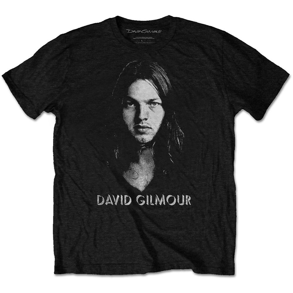 David Gilmour - Tričko Half-tone Face - Muž, Unisex, Čierna, XL