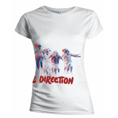 One Direction - Tričko Band Jump - Žena, Biela, XL