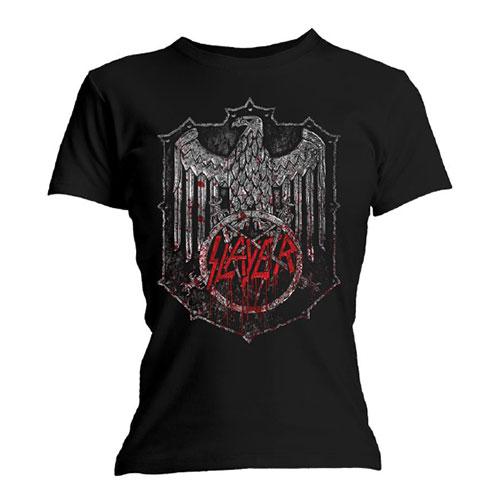Slayer - Tričko Bloody Shield - Žena, Čierna, L