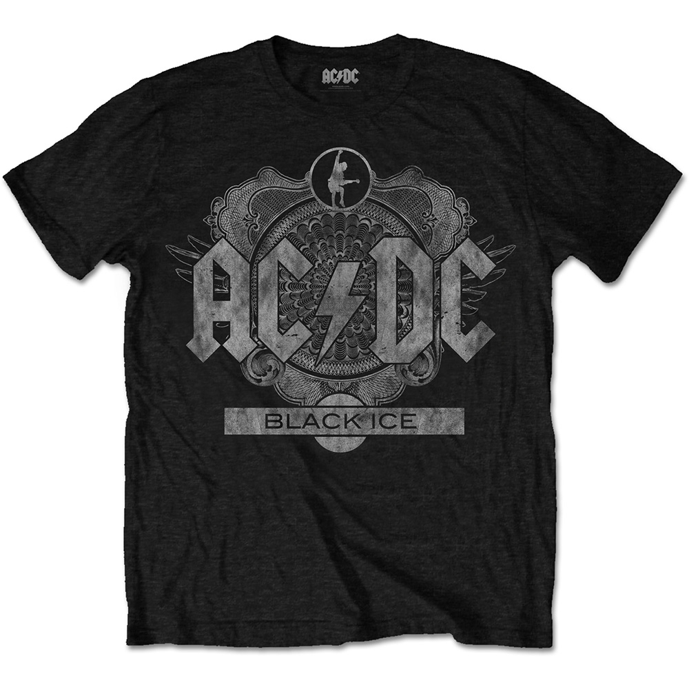 AC/DC - Tričko Black Ice - Muž, Unisex, Čierna, S