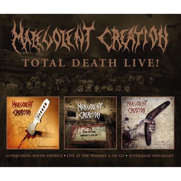 CD MALEVOLENT CREATION - TOTAL LIVE DEATH!