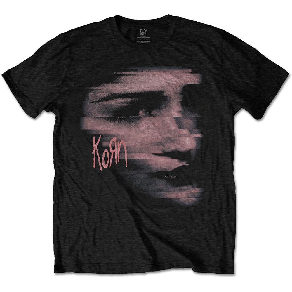 Korn - Tričko Chopped Face - Muž, Unisex, Čierna, L