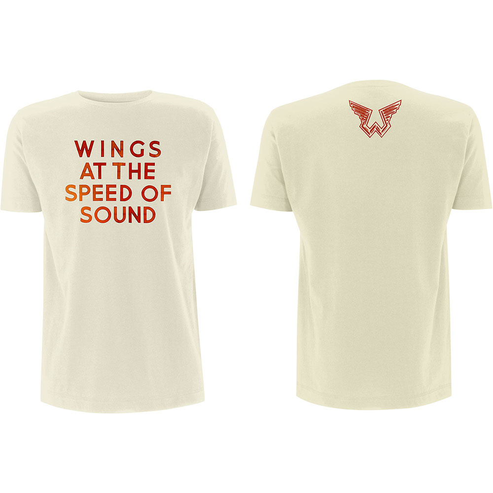 Paul McCartney - Tričko Wings at the Speed of Sound - Muž, Unisex, Natural, S