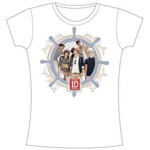 One Direction - Tričko Nautical - Žena, Biela, XL