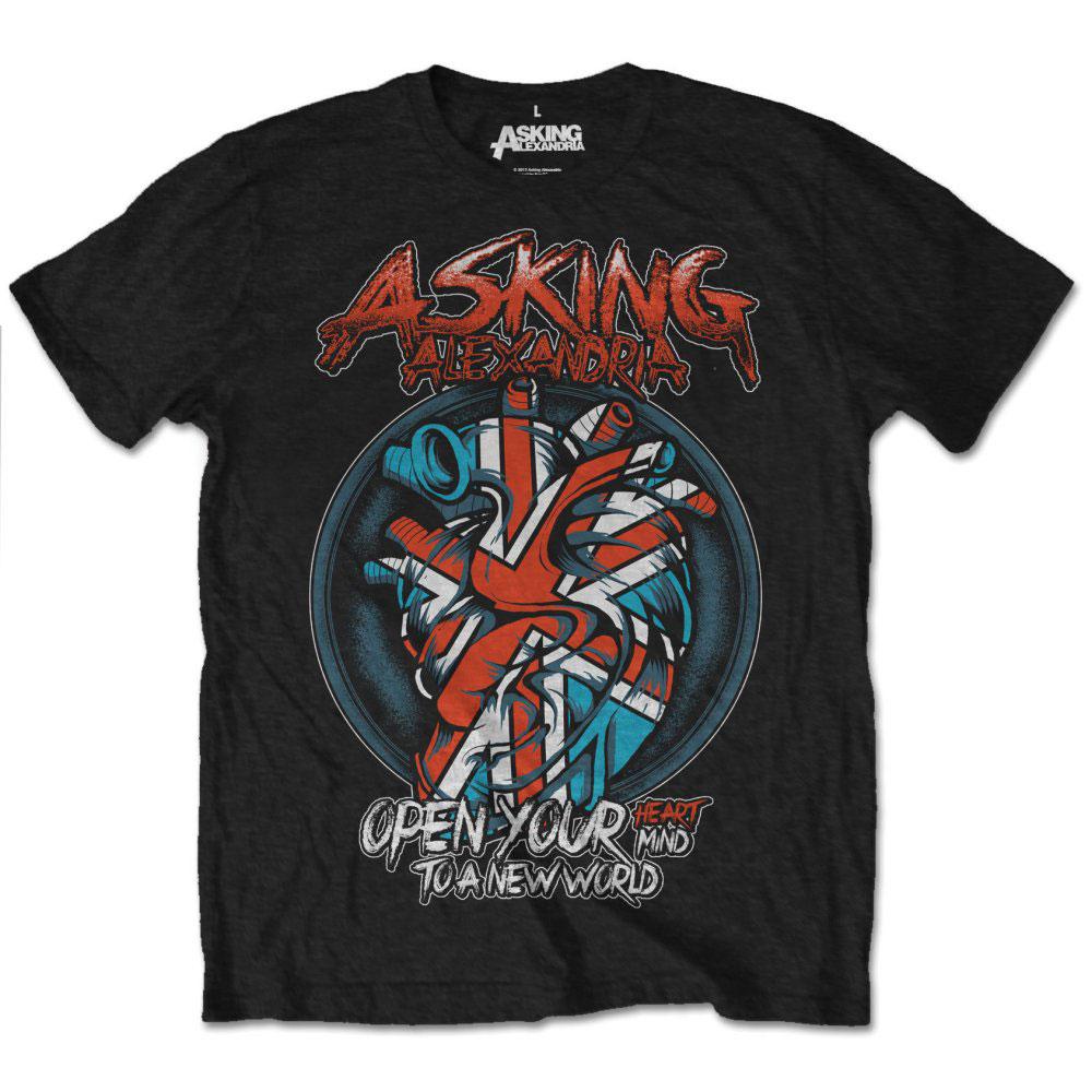 Asking Alexandria - Tričko Heart Attack - Muž, Unisex, Čierna, S