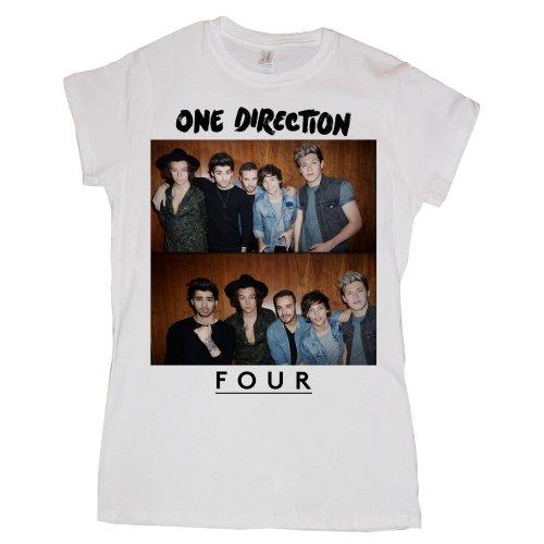 One Direction - Tričko Four - Žena, Biela, XL