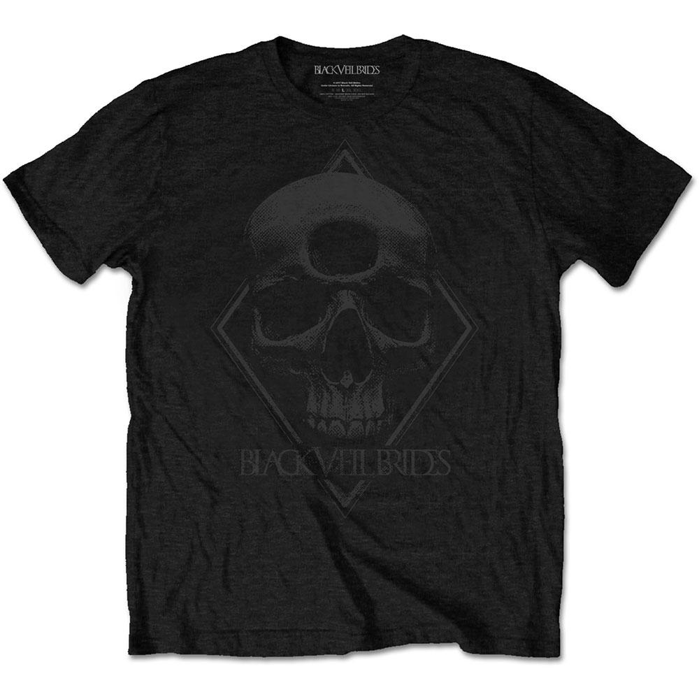 Black Veil Brides - Tričko 3rd Eye Skull - Muž, Unisex, Čierna, L