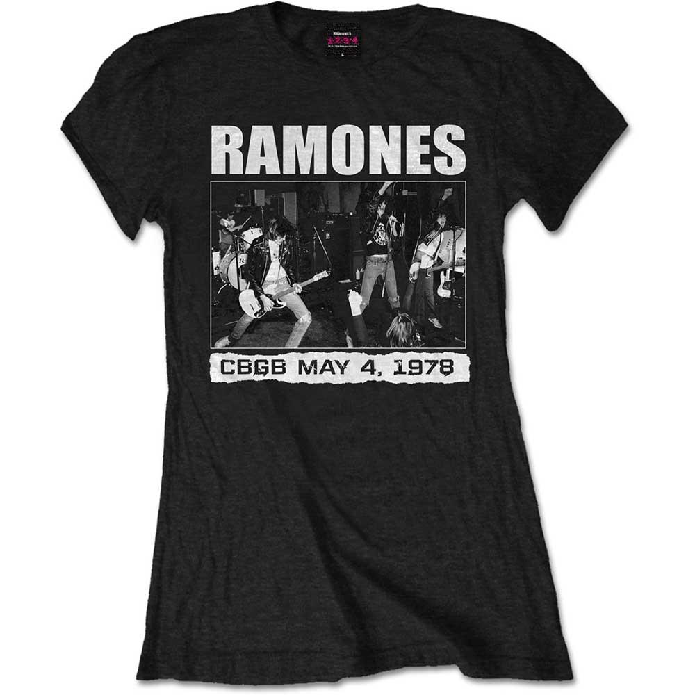 Ramones - Tričko CBGB 1978 - Žena, Čierna, XXL
