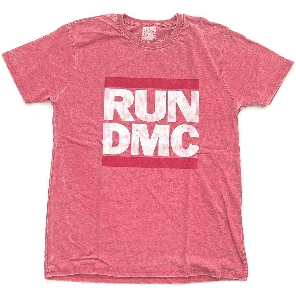 Run-DMC - Tričko Logo Vintage - Muž, Unisex, Ružová, L