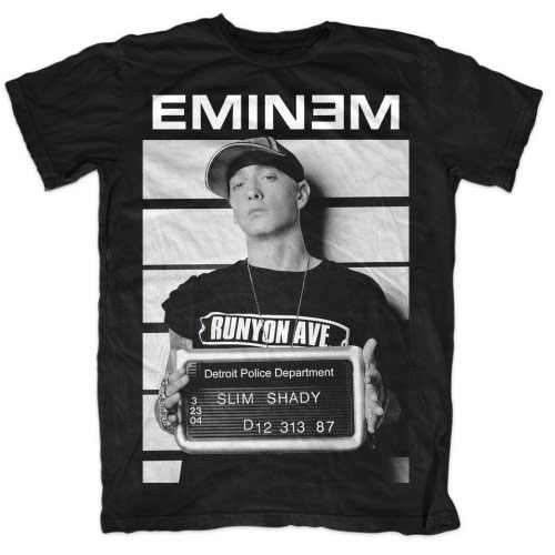 Eminem - Tričko Arrest - Muž, Unisex, Čierna, M