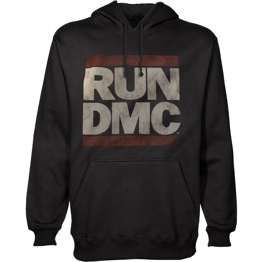 Run-DMC - Mikina Logo - Muž, Unisex, Čierna, XL