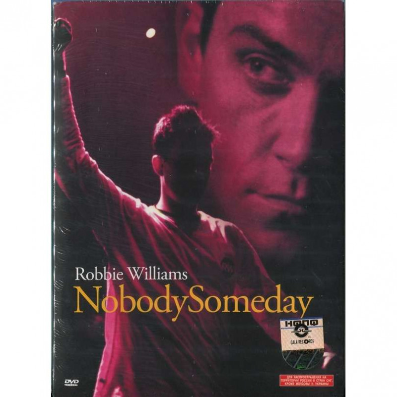 DVD WILLIAMS ROBBIE - NOBODY SOMEDAY