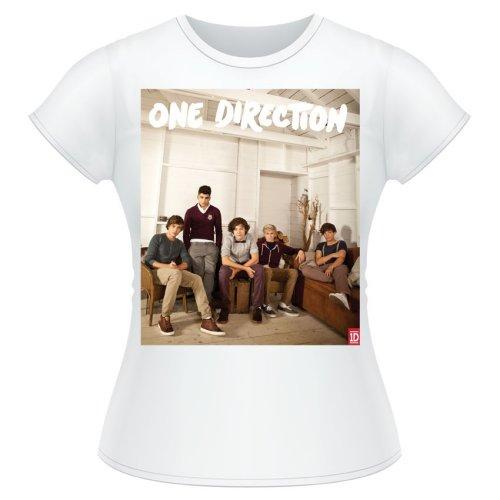 One Direction - Tričko Band Lounge Colour - Žena, Biela, XL