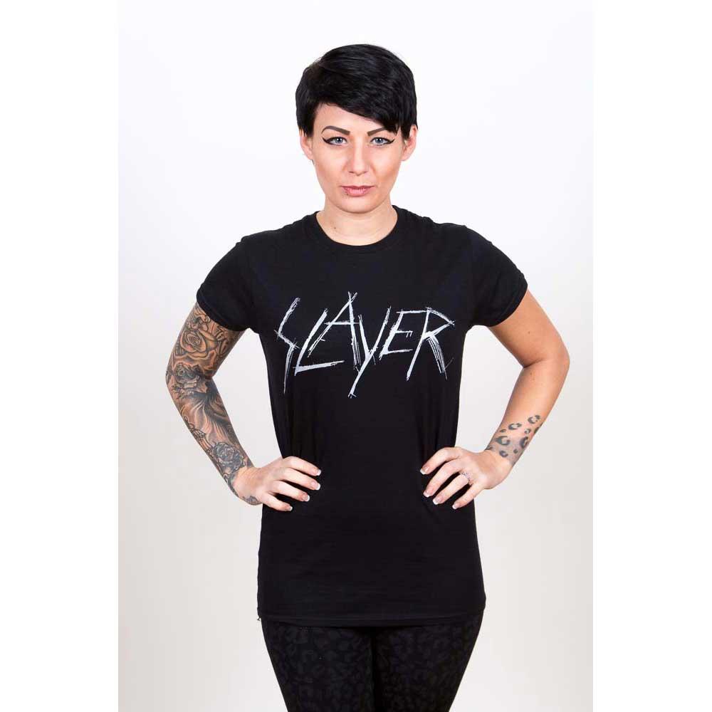 Slayer - Tričko Scratchy Logo - Žena, Čierna, M
