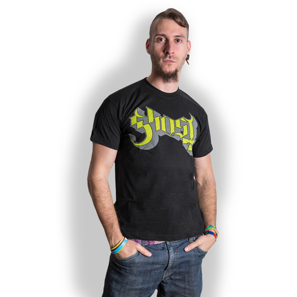 Ghost - Tričko Green/Grey Keyline Logo - Muž, Unisex, Čierna, XL