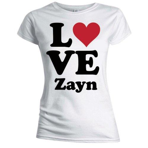 One Direction - Tričko Love Zayn - Žena, Biela, XL