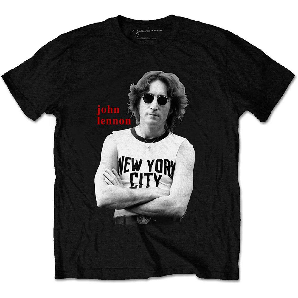 John Lennon - Tričko New York City B&W - Muž, Unisex, Čierna, M