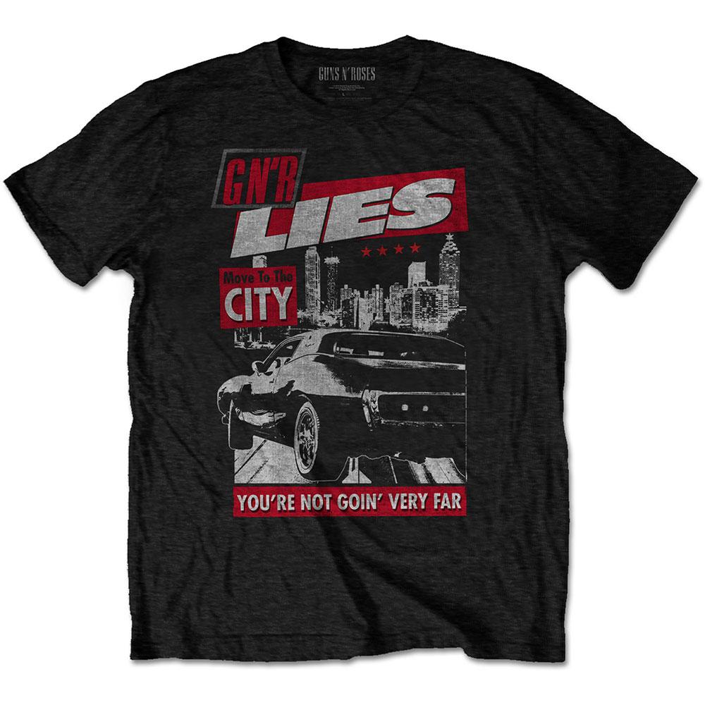 Guns N' Roses - Tričko Move to the City - Muž, Unisex, Čierna, M