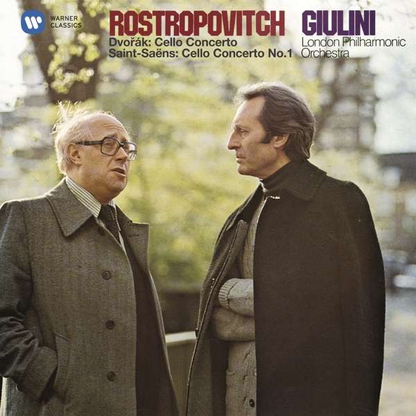 CD ROSTROPOVICH, MSTISLAV/LONDON PHILHARMONIC ORCHESTRA/CARLO MARIA GIULINI - DVORAK & SAINT-SAENS: CELLO CONCERTOS