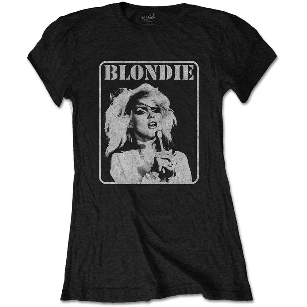 Blondie - Tričko Presente Poster - Žena, Čierna, S
